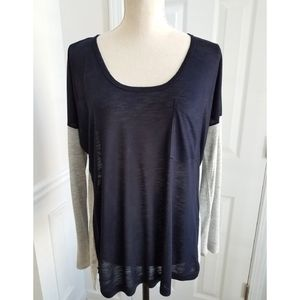 Madewell Long Sleeve Scoop Neck Roster Tee
